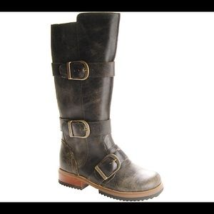 Gee WaWa Anthropologie Buckle Boots Size 8
